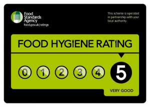 Foof Hygiene Rated 5 - Very Good
